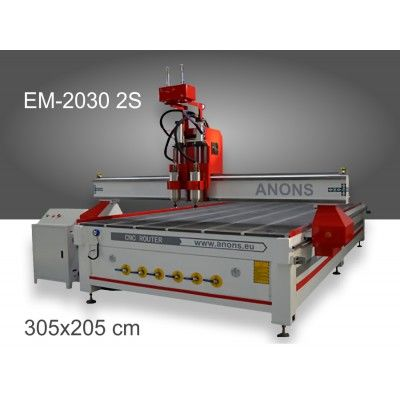 CNC рутер EM-2030 2S с 2 шпиндела